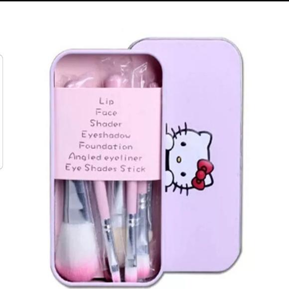 5f61711d2 Makeup | Cute Hello Kitty 7pc Brush Set | Poshmark
